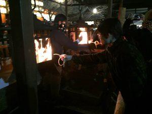 八坂神社 白朮火