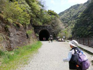 武田尾ハイキング一つ目のトンネルの入口